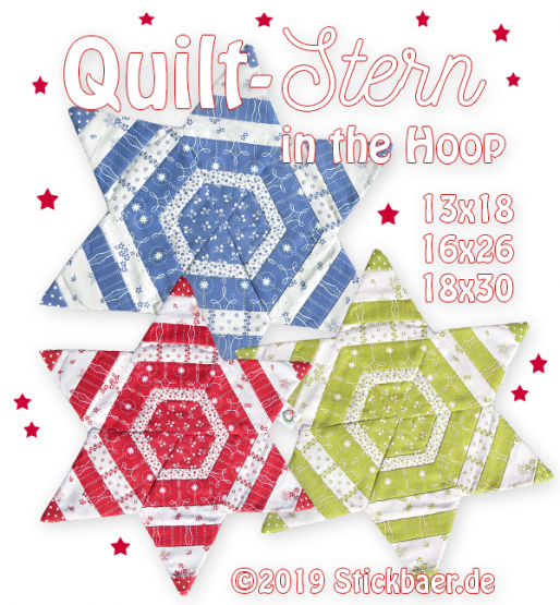 Quilt-Stern ITH 18x30