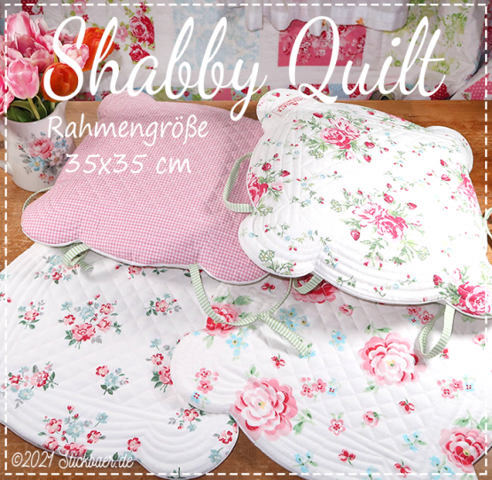 "Shabby Quilt 14""x14"""