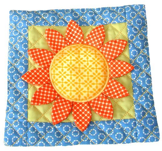 "3D Flowers & Potholder 5""x5"""