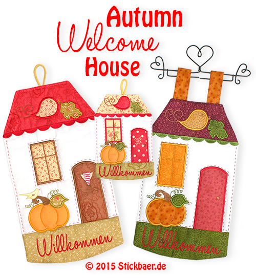 Autumn Welcome House 16x26 - 6x10""
