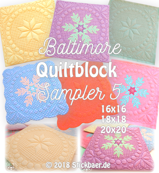 Baltimore Quiltblock Sampler 5 20x20