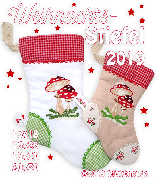 "Christmas Stocking 2019 8x12"" (20x30)"