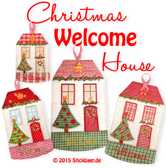 Christmas Welcome House Set 3- 13x18 + 16x26 + 18x30