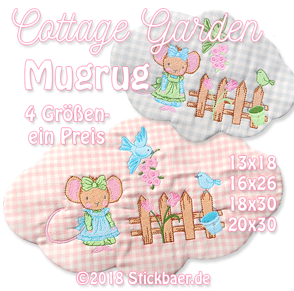 Cottage Garden Mugrugs