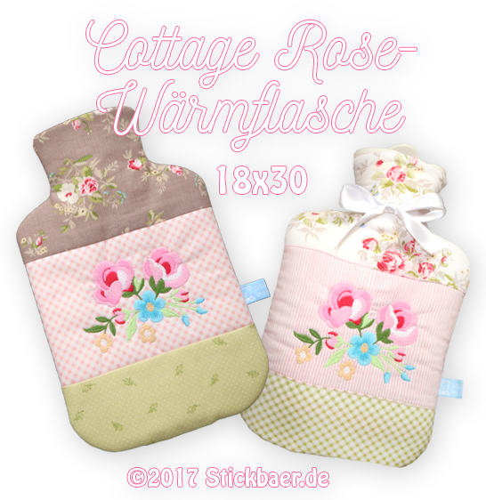 Cottage Rose Wärmflasche