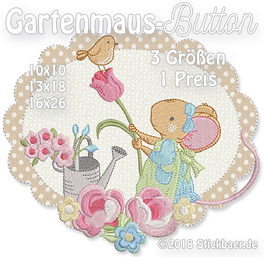 Gartenmaus-Button