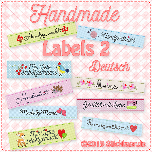 Handmade Labels 2 German