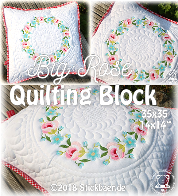 Big Rose Quilting Block
