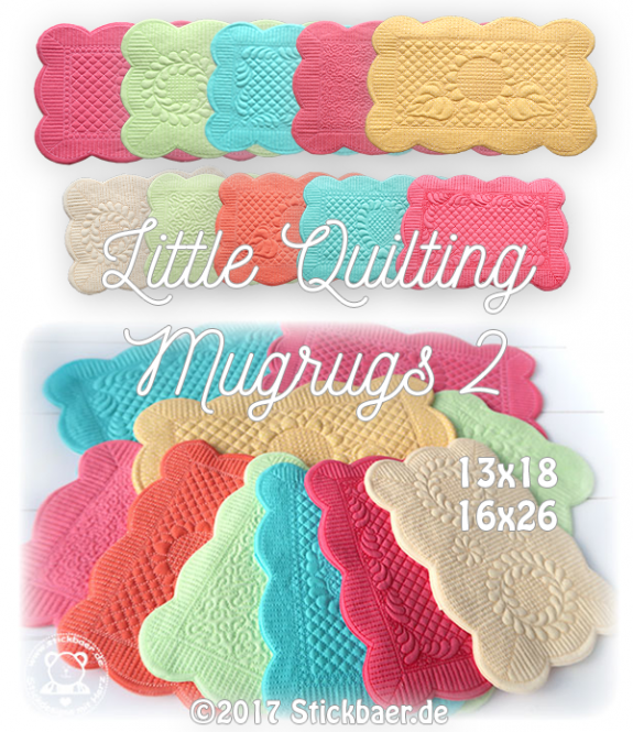 Little Quilting Mugrugs 2 ITH 13x18+16x26