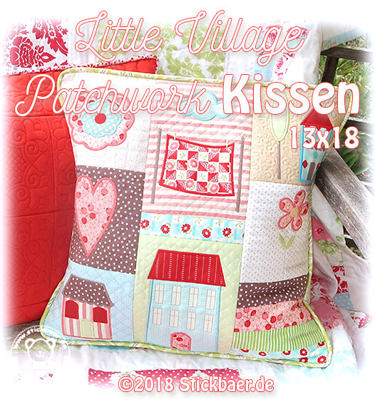 Little Village Patchwork Pillow