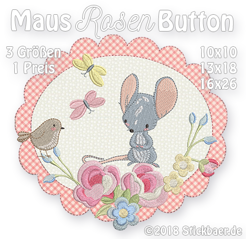 Maus-Rosen-Button