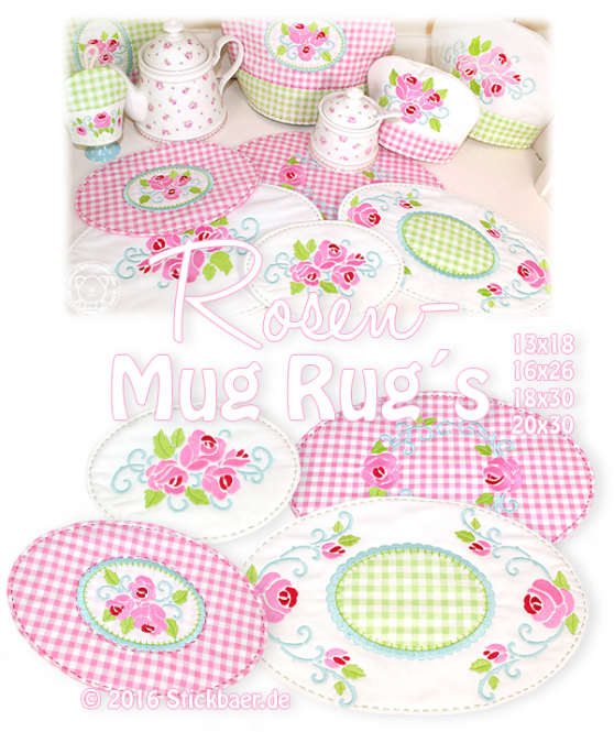 Rosen-Mugrugs Set 4 13x18+16x26+20x30