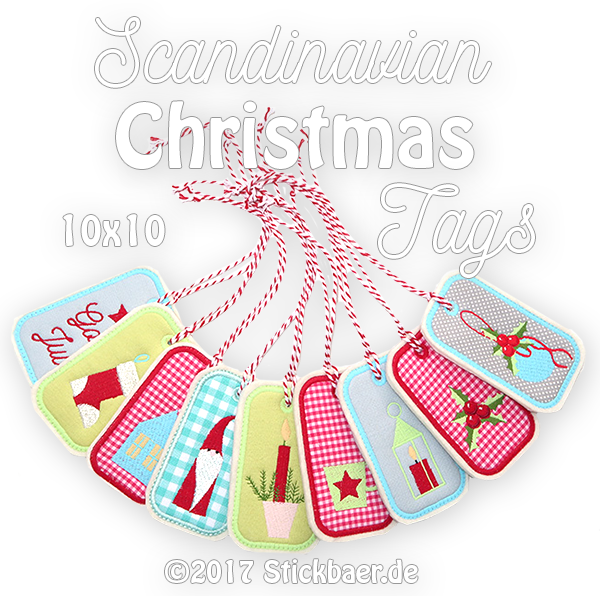 Scandinavian Christmas Tags