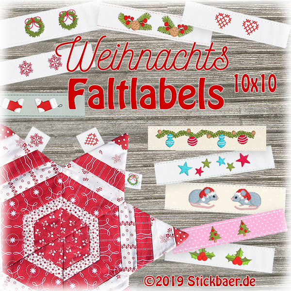 Christmas Fold over Labels
