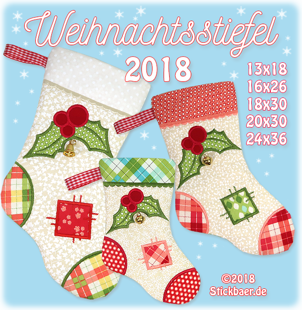 "Christmas Stocking 2018 5x7"" (13x18)"