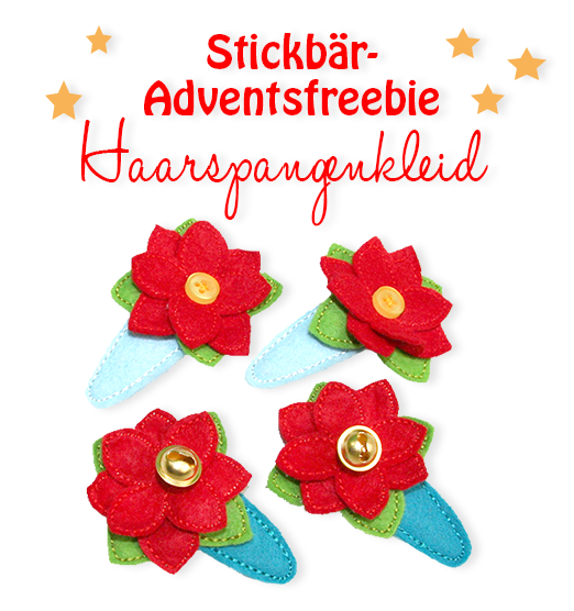 Freebie Advent 2014 - No. 1: Hair Clip Cover