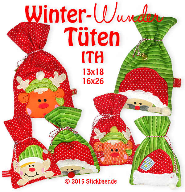 Winter Wonder Bags ITH 6x10""