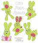 Cute Patch Rabbits
