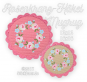Rose Wreath Crochet Mugrugs
