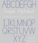 Simple Alphabet Uppercase Letters