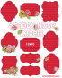 Shabby Rose Labels 13x18