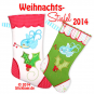 Christmas Stockings 2014 16x26 cm/ 6x10""