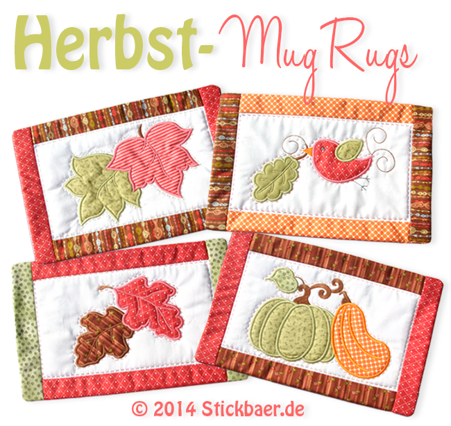 Der Stickbaer | Autumn Mug Rugs ITH