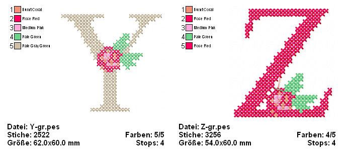 Der Stickbaer | Big Crossstitch ABC | Embroidery from heart