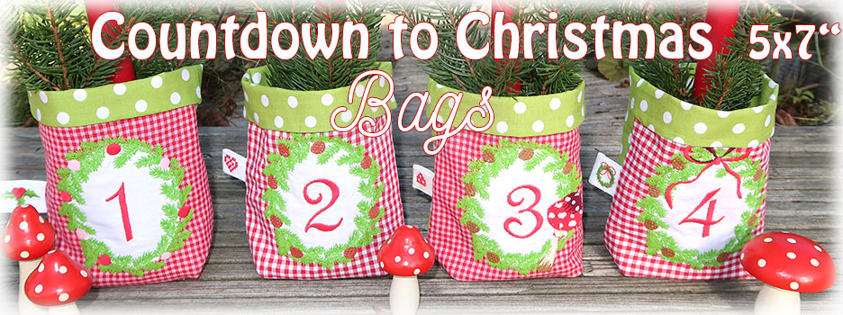 Countdown to Christmas Bags ITH