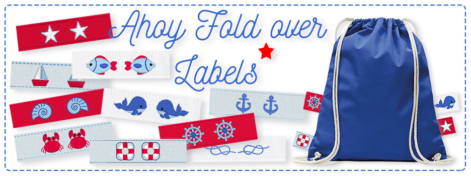 Ahoy Fold over Labels
