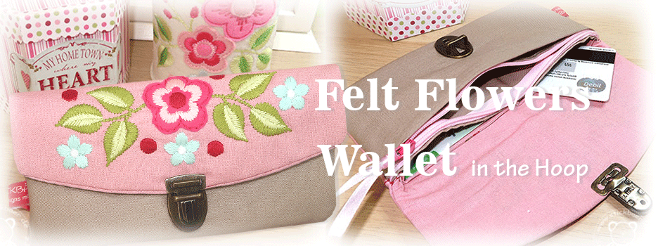 Felt Flowers Wallet ITH