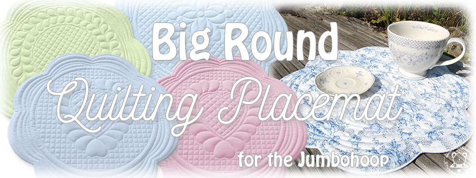 Big Round Quilting Placemat