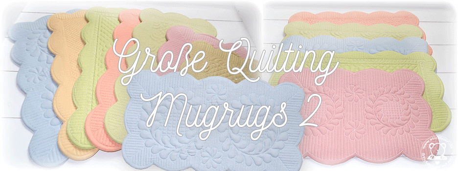 Große Quilting Mugrugs 2 ITH