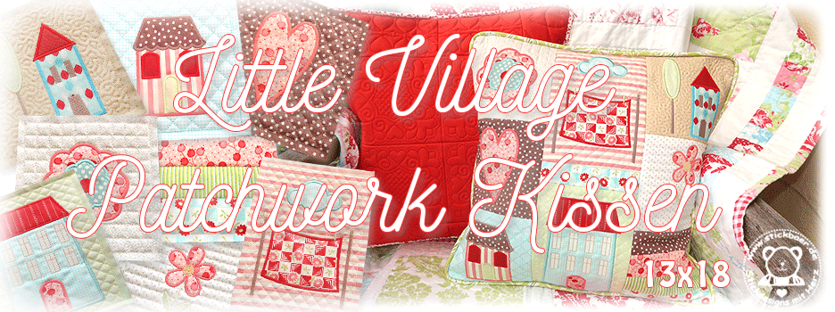 Little Village Patchwork Kissen