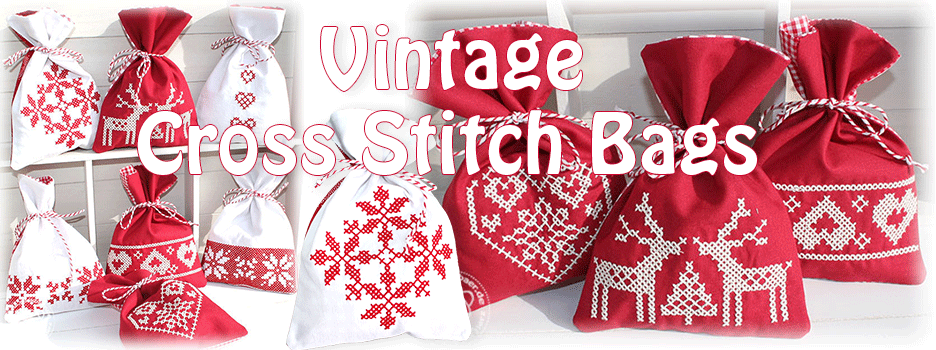 Vintage Crossstitch Bags ITH