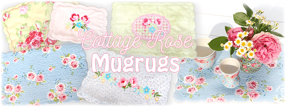 Cottage Rose Mugrugs